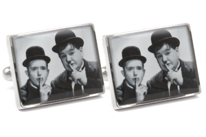 Mousie Bean Photo Cufflinks Laurel & Hardy 1033-4