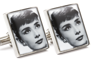 Mousie Bean Photo Cufflinks Audrey Hepburn 1070-1