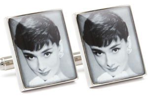 Mousie Bean Photo Cufflinks Audrey Hepburn 1070-2