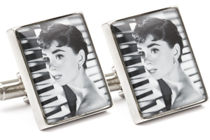 Mousie Bean Photo Cufflinks Audrey Hepburn 1070-3