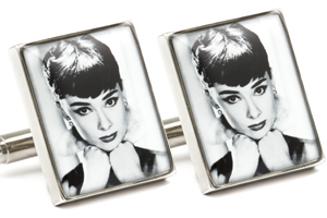 Mousie Bean Photo Cufflinks Audrey Hepburn 1070-4