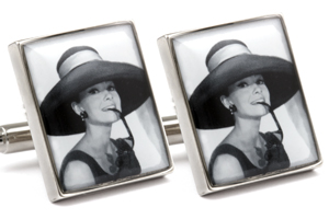 Mousie Bean Photo Cufflinks Audrey Hepburn 1070-5