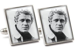 Mousie Bean Photo Cufflinks Steve McQueen 1080-1