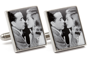 Mousie Bean Photo Cufflinks Bogart & Bacall 1140-1