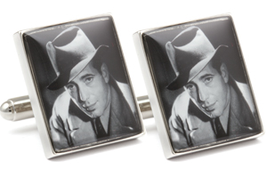 Mousie Bean Photo Cufflinks Bogart & Bacall 1140-2