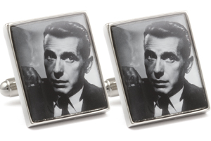 Mousie Bean Photo Cufflinks Bogart & Bacall 1140-3