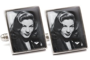 Mousie Bean Photo Cufflinks Bogart & Bacall 1140-4