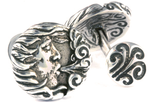 Mousie Bean Sterling Cufflinks Wind 156