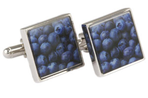 Mousie Bean Picture Cufflinks Blueberry