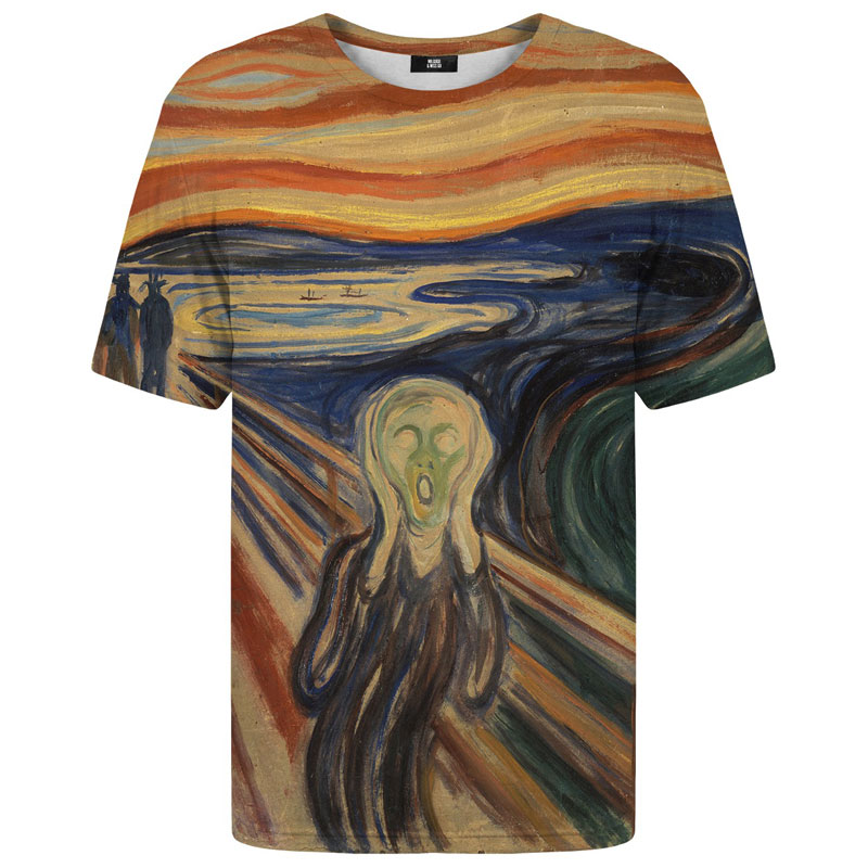 Mr. Gugu & Miss Go The Scream Unisex Short Sleeved T Shirt TSH1135