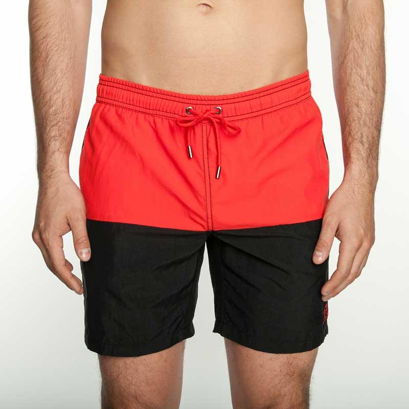 fcef058003 Mr.Swim The Dale Color Block Shorts Swimwear Black : Buy Men's ...