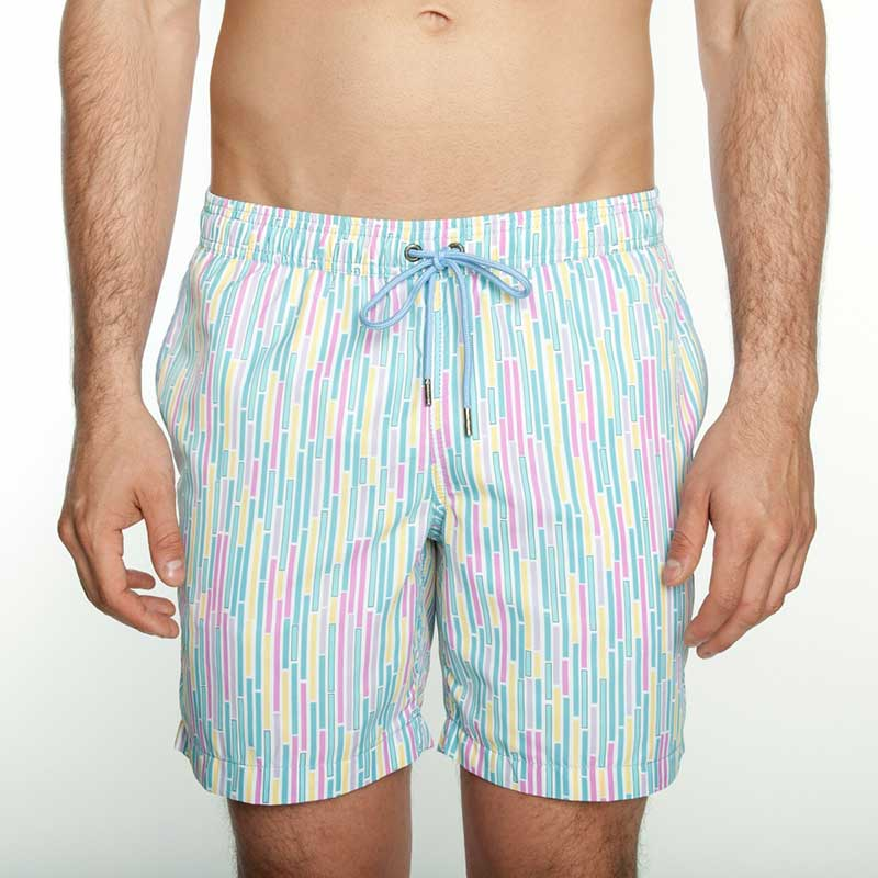 69cdcbf3b3 Mr.Swim The Dale Dripping Stripe Shorts Swimwear Pastel : Buy Men's ...