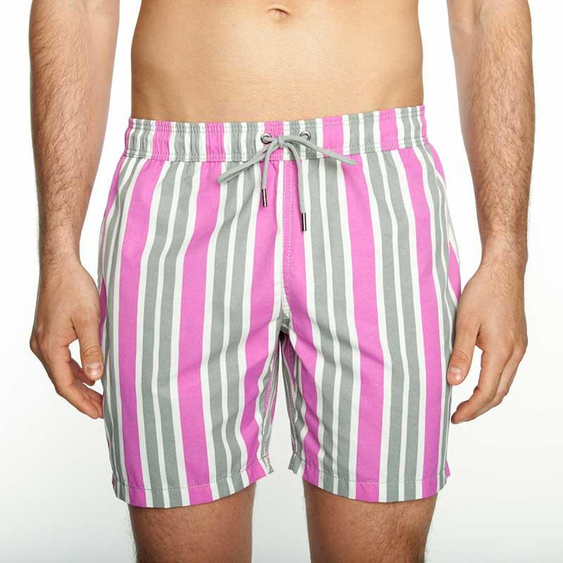 5bde05e103 Mr.Swim The Dale Wide Stripe Shorts Swimwear Magenta : Buy Men's ...