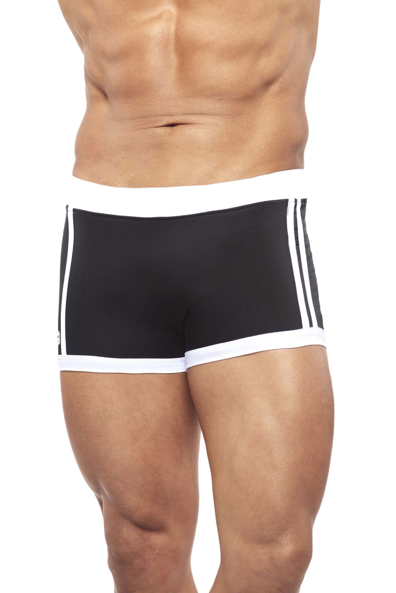00f22ee76b Narciso Square Cut Trunk Swimwear BAHAMAS BLACK/WHITE : Buy Men's ...