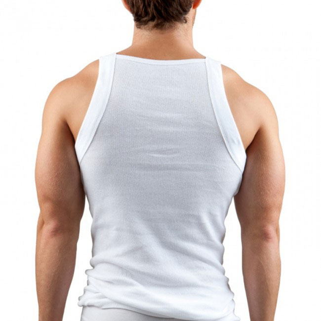 e5d507f2030b48 Papi  3 Pack  Cotton Essentials Square Neck Tank Top T Shirt White 559102