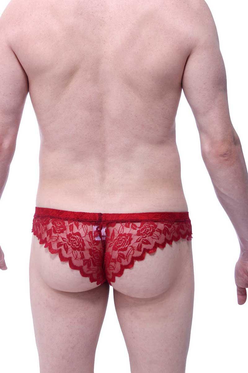 9bf97c286d0 Petit-Q Pigalle Lace Brazilian Bikini Underwear Bordeaux PQ160606 ...