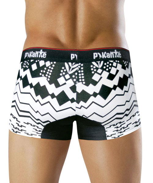 Pikante Boutique Boxer White/Black 8306 USA1