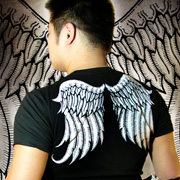 Poison Apple Angel Wings Short Sleeved T Shirt