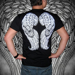 Poison Apple Archangel Wings Short Sleeved T Shirt
