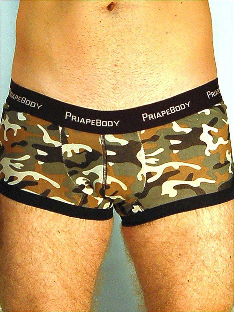PriapeWear Tom Camouflage Boxer Brief Underwear Green