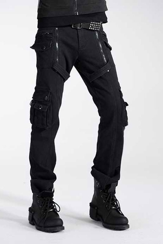 beautiful style delicate colors great variety models Punk Rave Gothic Cargo Pants Black K-158 [K-158] : Buy Men's ...