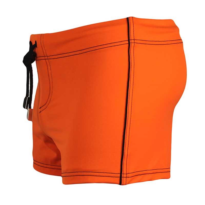 6b47bd14a993c Ramatuelle Borneo Square Cut Trunk Swimwear Orange : Buy Men's ...