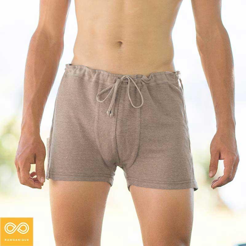 Rawganique Liszt Elastic Free 100% Organic French Linen Knit Boxer Brief  Underwear Natural RGMU-1958 8a6dd2f4ef2f