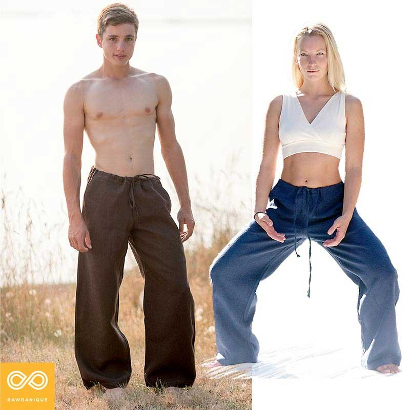 6fb2432554 Rawganique Unisex Yogi 100% Organic Hemp Yoga Pants YP1-RG175-1 [YP1 ...