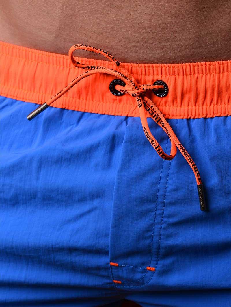 c93760ec50 Roberto Lucca Hawaii Shorts Swimwear Blue/Neon Orange RL-70129-30133 ...