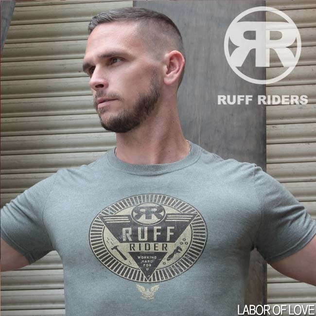 Ruff Riders Labor Of Love Short Sleeved T Shirt Heather