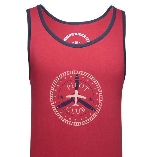 59f21efa8fa778 Ruff Riders Pilot Club Tank Top T Shirt Cardinal Red Navy   Buy ...