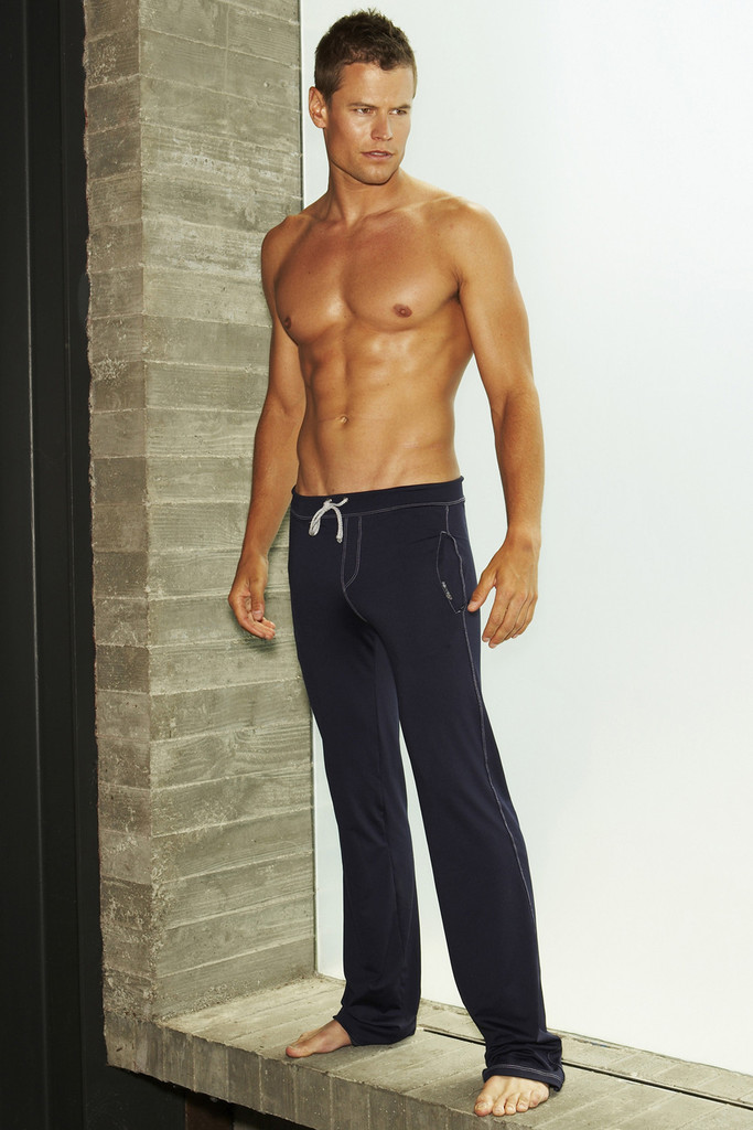 Sauvage Athletic Low Rise Workout Pants Navy M027