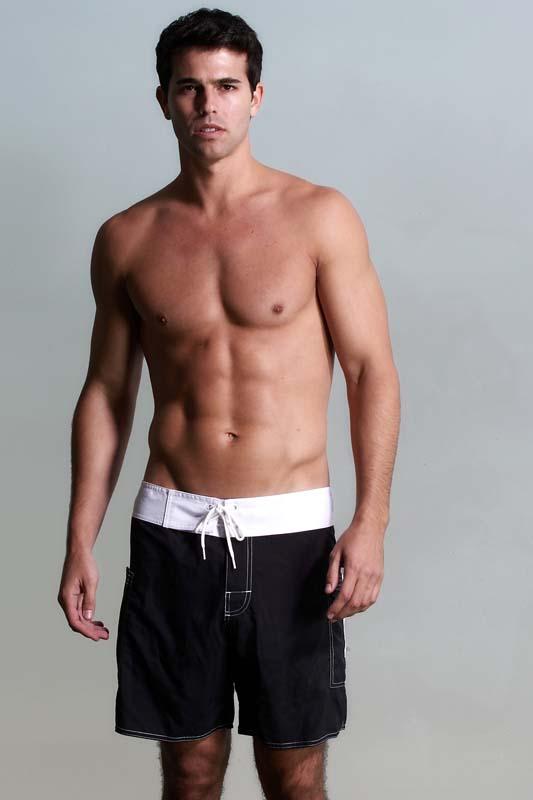 8ce24a698c Sauvage Banded Pocket Boardshorts Beachwear Black/White M160 [M160 ...