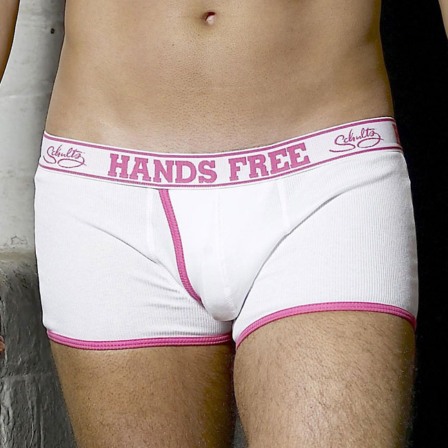 Schultz Hands Free Boxer Brief Underwear White/Pink