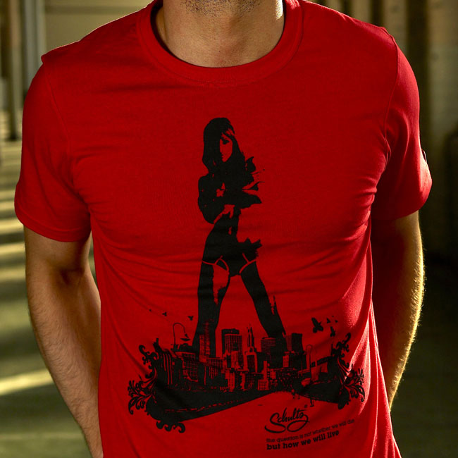 Schultz Hot In The City Short Sleeved T Shirt Red