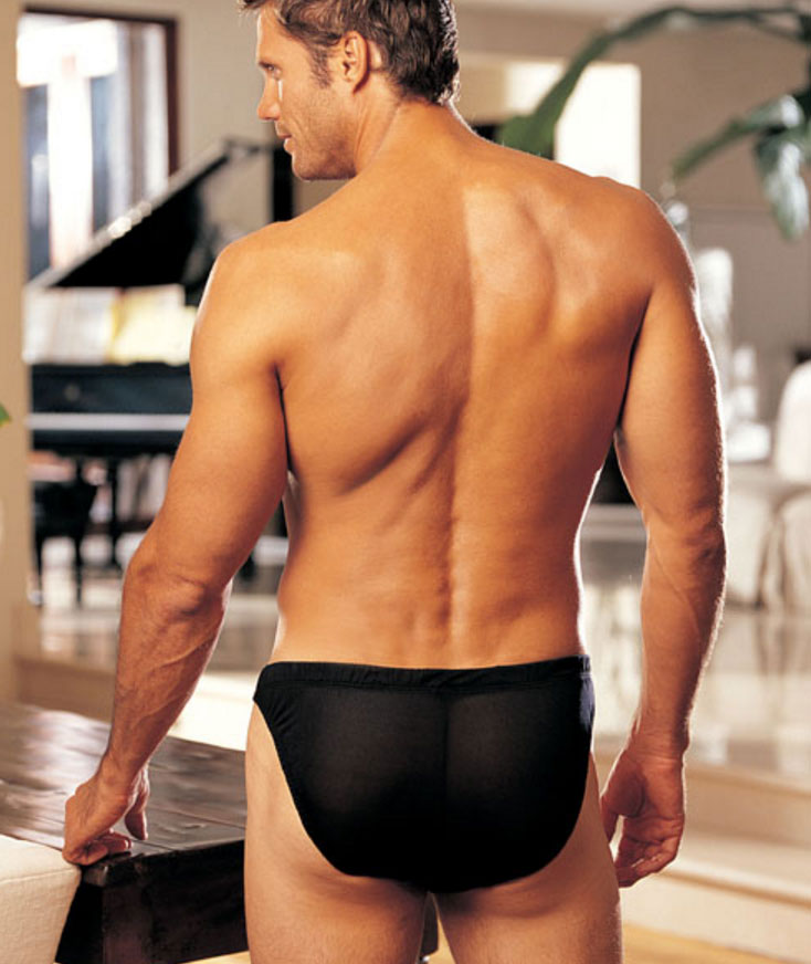 Gyz Silk Knit Brief Black 30025