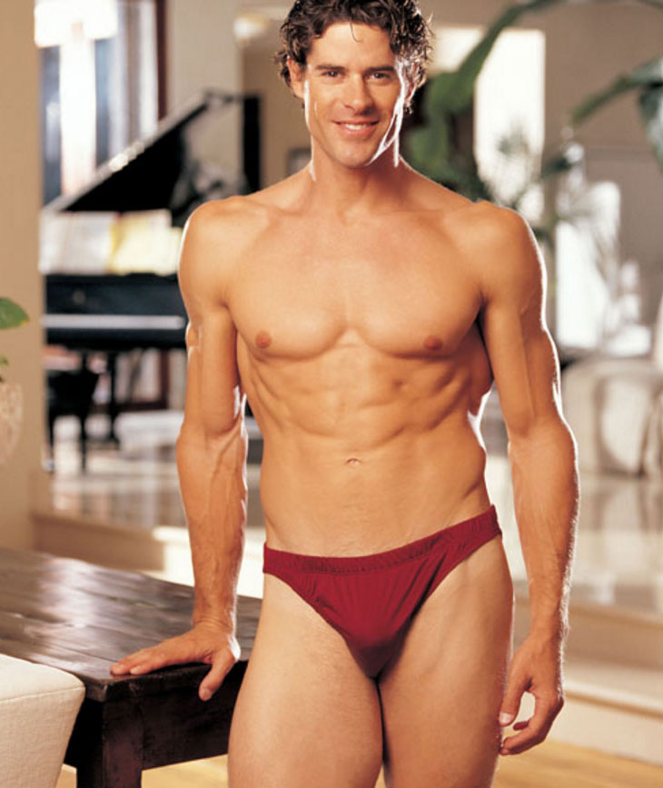 Gyz Silk Knit Brief Burgundy 30025