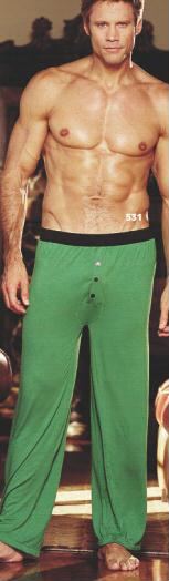 Gyz Soft Poly/Rayon Knit Lounge Pants Green 531