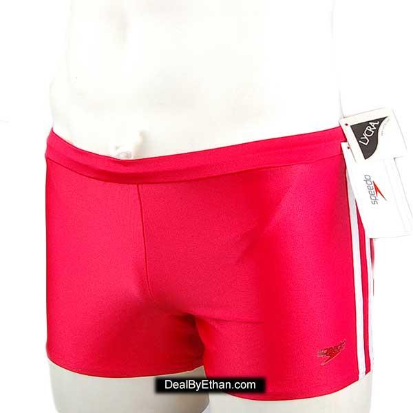 d015523907 Speedo Shoreline Square Leg Square Cut Trunk Swimwear Red 7300000 ...