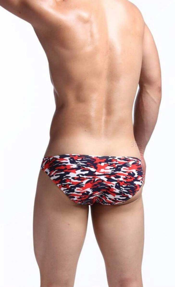 e946594bf8a Spy Henry Lau Camouflage Low Waist Bikini Underwear Red PH128MUN ...