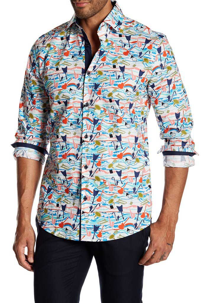 Suslo Couture Rock N Roll Button Down Long Sleeved Shirt Buy Men S