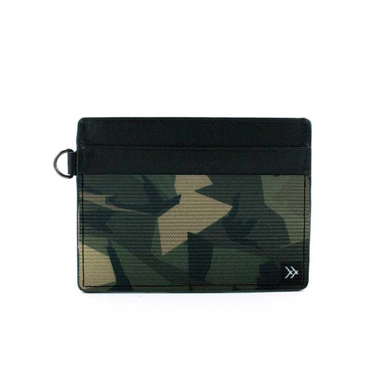 Thread Wallets Camo Slim Leather Card Holder Wallet