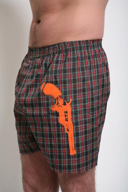 Tumbler & Tipsy Box and Cox Underwear Antique Gun Plaid Boxers