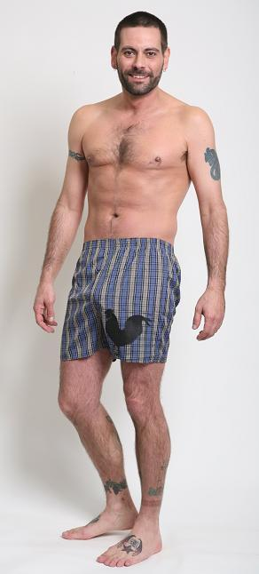 Tumbler & Tipsy Box and Cox Underwear Side Rooster Plaid Boxers