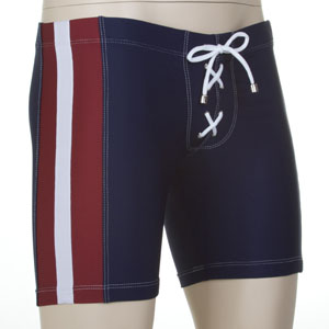 Tulio Football Lace Up Jammer Swimwear Navy JA05