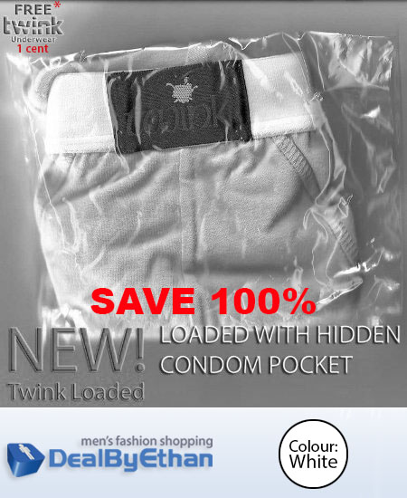 Twink Loaded Classic Brief FREE Men's Underwear White