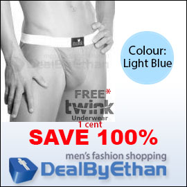 Twink Solid Bikini FREE Men's Underwear Light Blue
