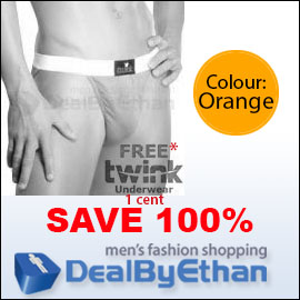 Twink Solid Bikini FREE Men's Underwear Orange