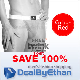 Twink Solid Bikini FREE Men's Underwear Red
