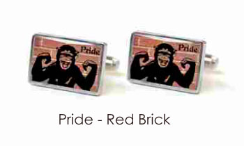 Tyler & Tyler Stencilart 7 Deadly Sins Red Brick Cufflinks Pride